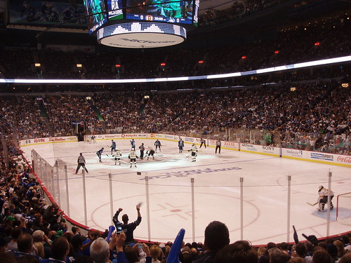 Game 1 / Canucks vs Bruins / Opening Face-Off / 2011 Stanley Cup Finals