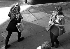 Saturday is shopping day (Wilamoyo) Tags: york light shadow bw white black beautiful women streetscene