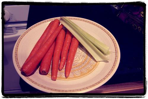 carrots celery