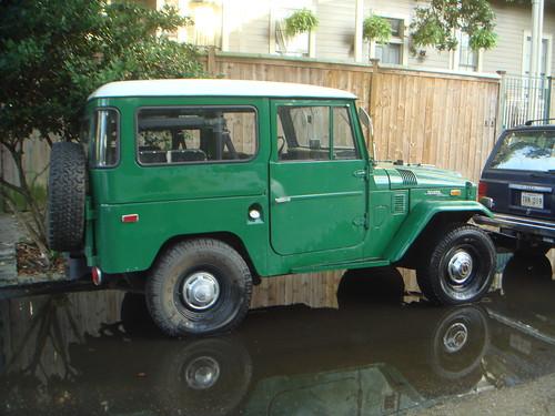 Toyota FJ in a puddle