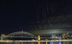 Sydney by  night (Rmonty119) Tags: travel water night clouds stars harbour sydney australia lightroom starstax canon5dlll