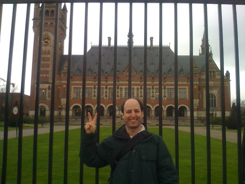 Barry at Peace Palace, The Hague
