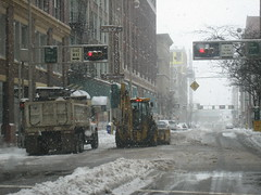 Cincinnati snow armageddon (bousinka) Tags: street ohio snow storm fall downtown cincinnati 4th oh plow fourth