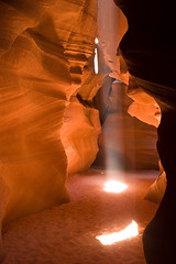 Duel Beam (James Marvin Phelps) Tags: arizona photography canyon upper antelope slot corkscrew sunbeam jmp slotcanyon pagearizona navajonation upperantelopecanyon mandj98 jamesmphelps