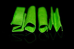 Paper lettering (B-APi) Tags: macro green message zoom letters vert papier folding lettres grosplan typographie pliage andrpierre bodson