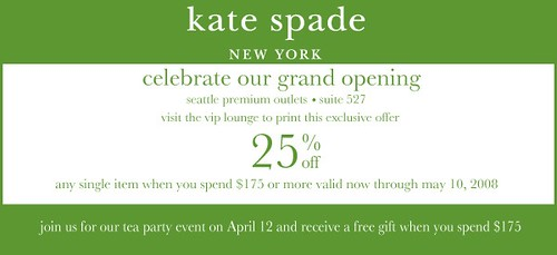 Kate Spade opening in Seattle Outlets
