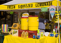 FRESH SQUEEZED LEMONADE (NC Cigany) Tags: sky food color water yellow museum nc waterfront wwii gray navy dunn battleship capefearriver cottonfestival ncdunn