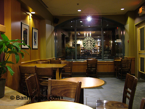 The Stabucks coffee shop on