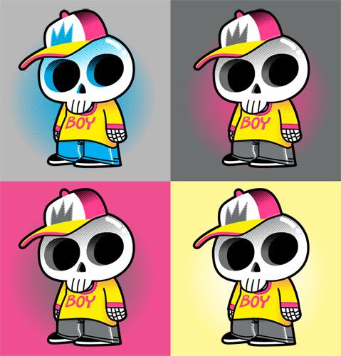 Skull Boy Tee Design