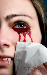 bloody tears (anemic_one) Tags: blood eyes crying fangs vampires annerice cryingblood