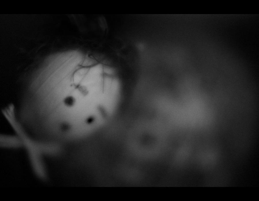 boneca, preto e branco, fotografia, trapos