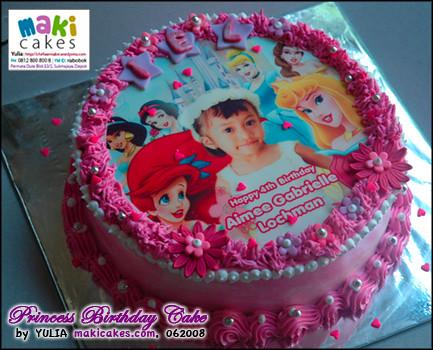 Princess Edible Image Cake - Maki Cakes