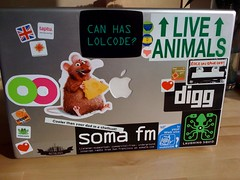 My work laptop (thatcanadiangirl) Tags: w3c metblogs laughingsquid digg somafm taptu lolcode