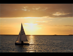 Sailing-in-the-suns-shadows (Elaine 55..) Tags: sunset sky lake sailing yacht westkirby supershot 100comments mywinners platinumphoto aplusphoto aroundus 100commentgroup spectacularsunsetsandsunrises