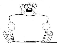 Urso (Lucia Helena Cesar) Tags: feltro desenhos figuras riscos moldes patchcolagem