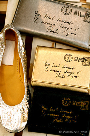 YSL WALLETS & LANVIN FLATS by Carolina delRivero.