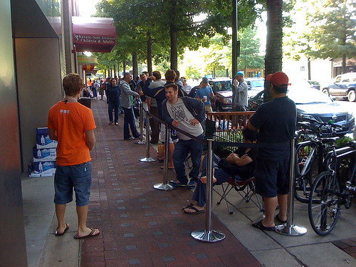 Waiting for the launch of the iPhone 3G - Taken With An iPhone