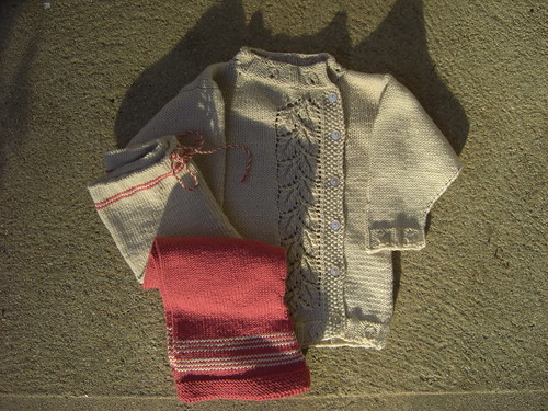 Peapod Baby Sweater with Pants
