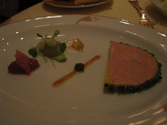 Daniel: Pistachio crusted duck foie gras terrine - Canon S5 (another view)