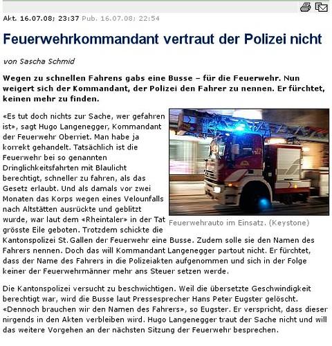Sommerflaute bei der Polizei