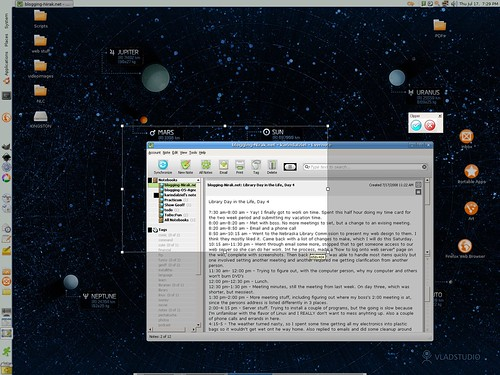 Evernote on Linux through Wine - clipping