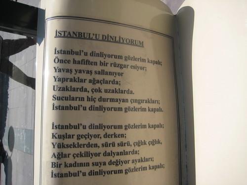 Una banca en Istanbul