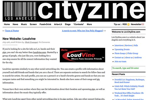 L.A. Cityzine Screenshot