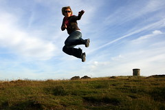 Kung-Fu (nataliej) Tags: portrait me self jump jumping leicestershire hill beacon loughborough thatbenchhoodie