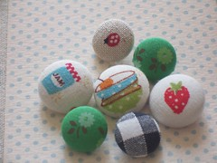 Summer picnic buttons