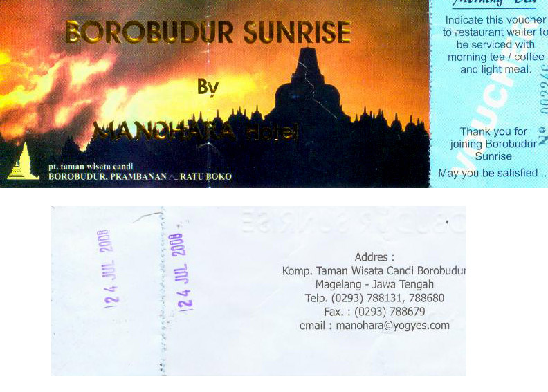 borobudur sunrise ticket