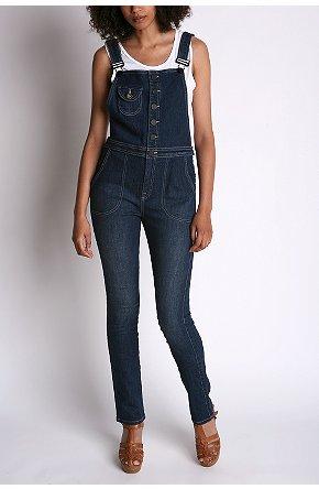 skinny overalls