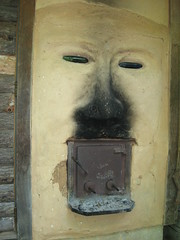 Decoration Outside Sauna (gerryblog) Tags: ecovillage earthaven
