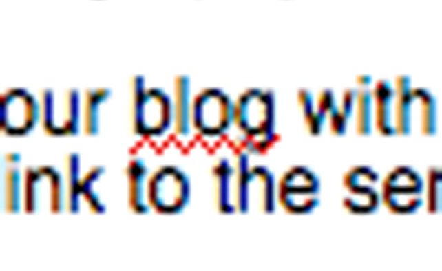 "Microsoft spellcheck still doesn't recognize ""blog""."
