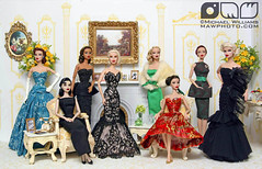 Eight Beauties by Christopher Stoeckel (MyLifeInPlastic.com) Tags: jason fashion by dolls dress designer michelle gown wu royalty inauguration inaugural ballgown integritytoys obamas