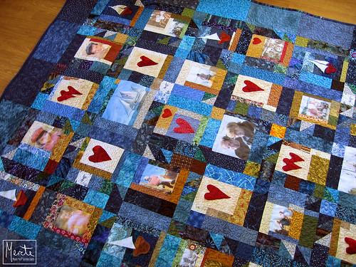 blue sailboat photo quilt august sew pole 2008 photopole