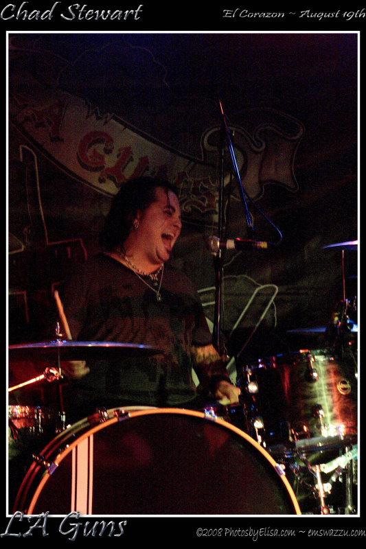 Chad Stewart of the LA Guns at El Corazon, Seattle