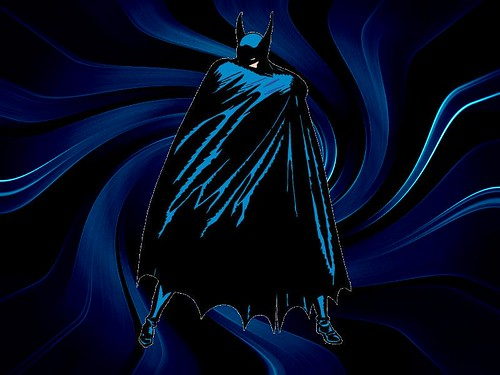 My Batman blue swirls wallpaper