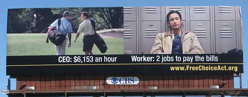 Close Up Billboard: CEO/Worker for FreeChoiceAct.org