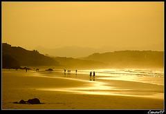 The Beach 2.0 (Cameno) Tags: sunset espaa beach yellow d50 landscape atardecer spain nikon playa paisaje amarillo santander cantabria svb sanvicentedelabarquera abigfave
