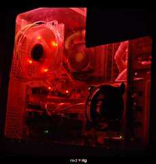 Red | Machine (Mohd Razali) Tags: red machine rig cpu motherboard msi abit an8 coolermaster