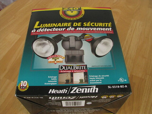Motion detector outside light $15