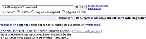 Death Magnetic en google