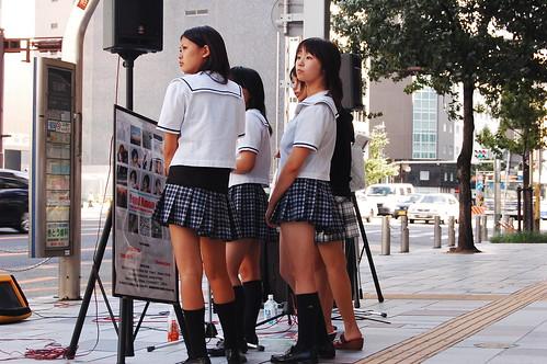 Minisuka Schoolgirls in Nagoya
