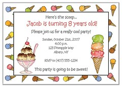Ice Cream Party Invitations (Kid's Birthday Parties) Tags: birthday party summer kids children summerparty invitations kidsparty themeparty kidsbirthday icecreamparty partytheme birthdayinvitations sundaeparty personalizedinvitations icecreambirthday makeasundaeparty