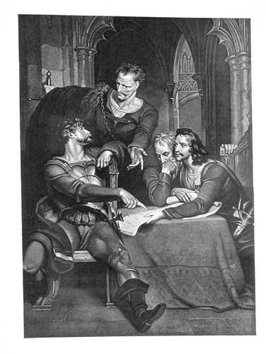 09- Primera parte de Enrique IV- Act III Esc I- Bangor. La residencia del Archidiacono- Richard Westall