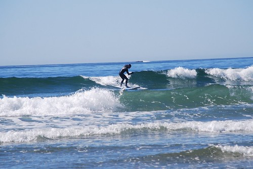 Jason catching a wave in Tofino