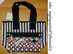 Borsa righe,fiocchi e bottoni (Stre.ART  ***Bijoux ed accessori) Tags: fashion glitter bag moda borsa fiocchi raso vinile