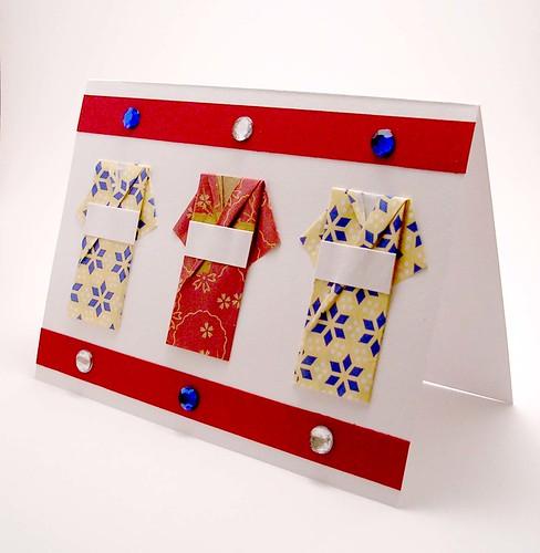 Origami Kimono Card Kimono