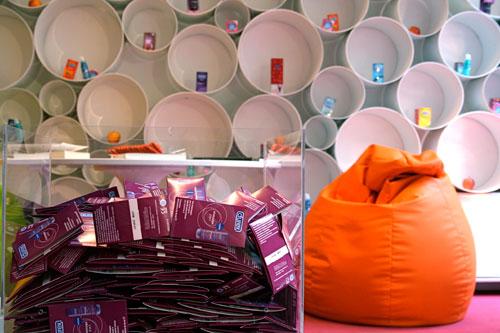 Durex Temporary Store inside