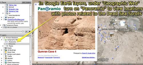 Google Earth - Panoramio - Dead Sea Scrolls